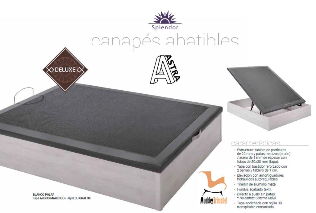 Canapé Abatible tapizado Astra Deluxe Splendor Muebles Trimobel