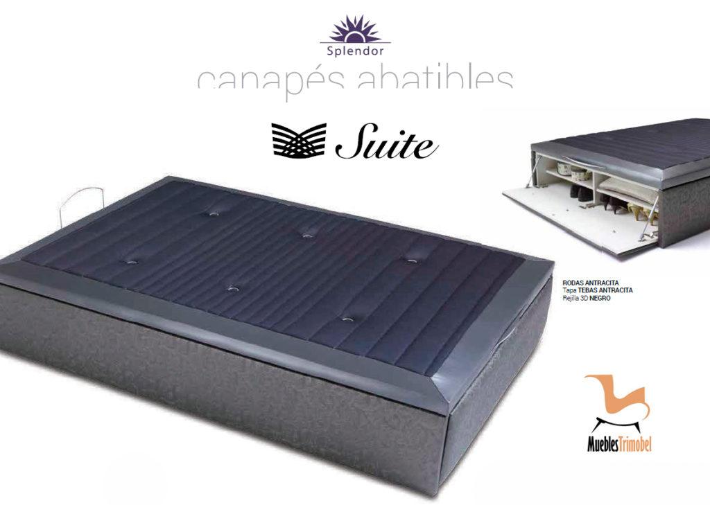 Canapes abatibles tapizados con zapatero incorporado. Muebles Trimobel Getafe
