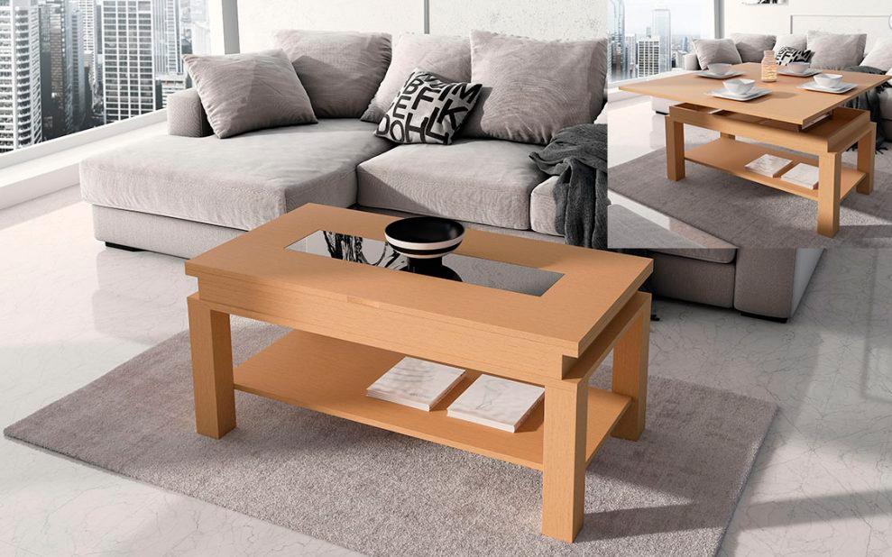 Mesa de centro extensible a mesa comedor Trimobel Getafe