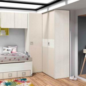 Dormitorio Juvenil cama nido puente Muebles Trimobel Getafe S10Styles
