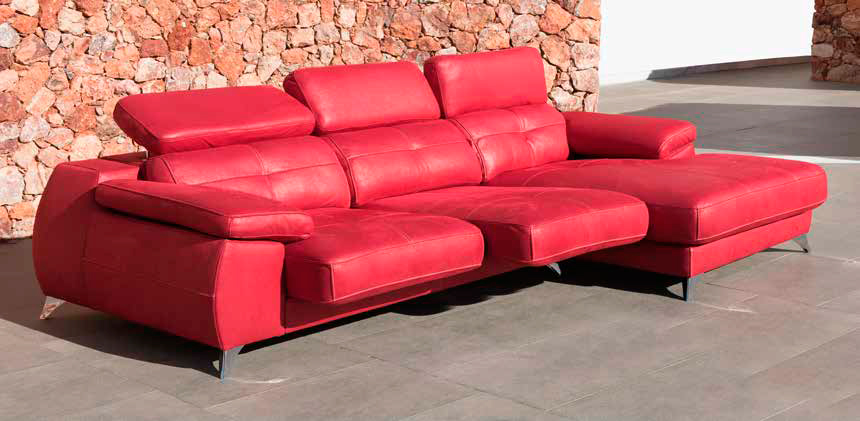 Sofa-Chaisse-Longue-Rojo-Olimpo-Trimobel-Getafe