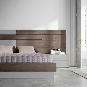 Dormitorio Moderno con cama de matrimonio Kos EOS mod.119
