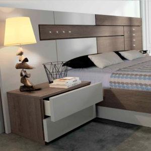 Dormitorio Moderno con cama de matrimonio Kos EOS mod.119 Detalle