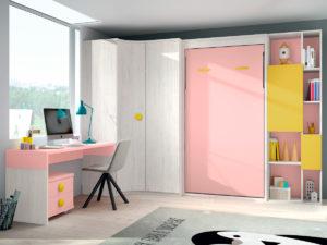 Habitacion Juvenil cama abatible Formas 419