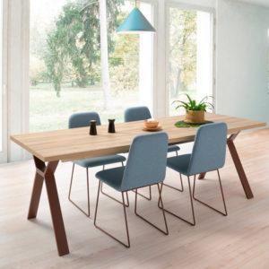 Mesa estilo Indutrial Elsa con silla Turin Muebles Trimobel Getafe