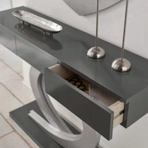 Recibidor moderno Cloe con espejo y cajones Muebles TRimobel Getafe