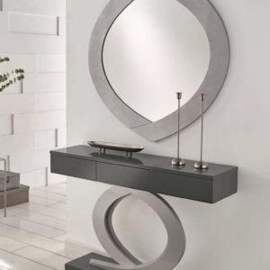 Recibidor moderno Cloe con espejo y cajones TRimobel Getafe