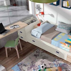 Habitacion Juvenil cama extraible Muebles Trimobel Getafe S06Styles