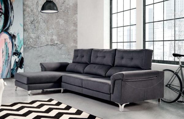 sofá Chaisse Longue Black Trimobel Getafe