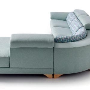 sofá Chaisse Longue Katar con esquinero curvo Trimobel