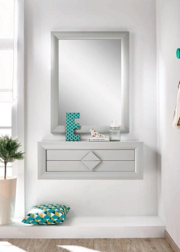 Recibidores modernos con espejo Cloe 2005 Muebles Trimobel Getafe