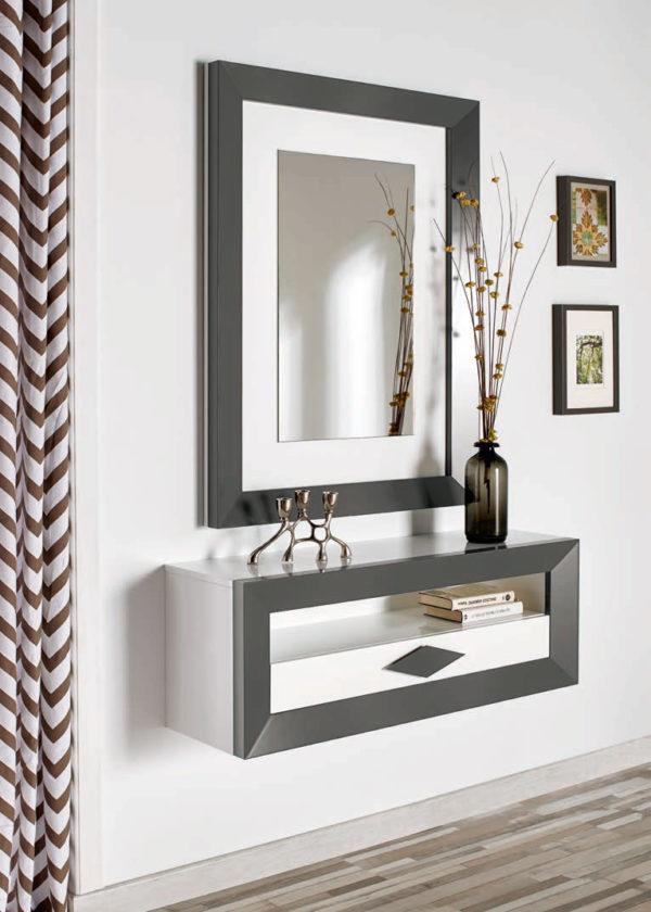 Recibidores modernos con espejo Cloe 2006 Muebles Trimobel Getafe