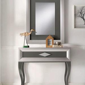 Recibidor con espejo estilo moderno Cloe 2019 Muebles Trimobel Getafe