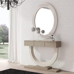 Recibidores modernos con espejo Cloe 664 detalle cajones Trimobel Getafe