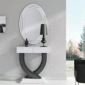 Recibidores modernos con espejo Cloe 667 detalle cajones Trimobel Getafe