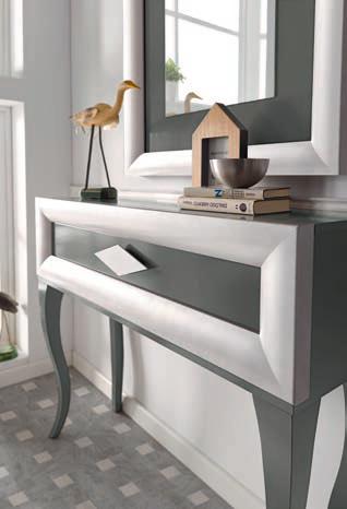 Recibidor con espejo estilo vintage Cloe 2019 Muebles Trimobel Getafe