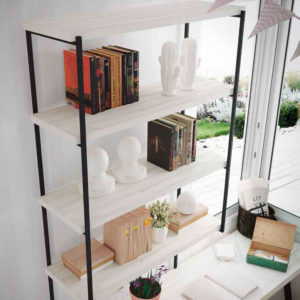 DEtalle de estanteria en habitacion juvenil original con cama nido Yaboni new Avant 02 Muebles Trimobel
