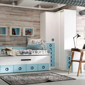 habitacion juvenil original con cama nido Yaboni new Avant 04 Muebles Trimobel