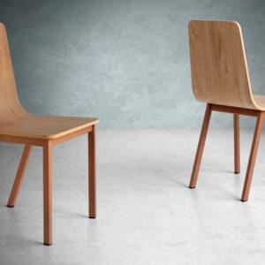 silla madera patas metalicas mod 203 Muebles Trimobel Getafe