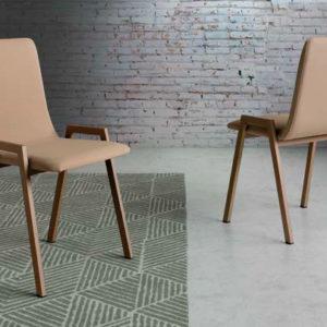 silla estilo industrial patas madera mod 214 Muebles Trimobel Getafe
