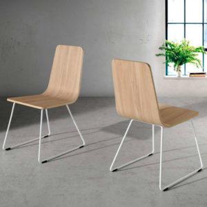 Silla industrial de madera modelo 205 Muebles Trimobel Getafe