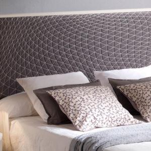Cabecero tapizado Original modelo Diamond Muebles Trimobel Getafe