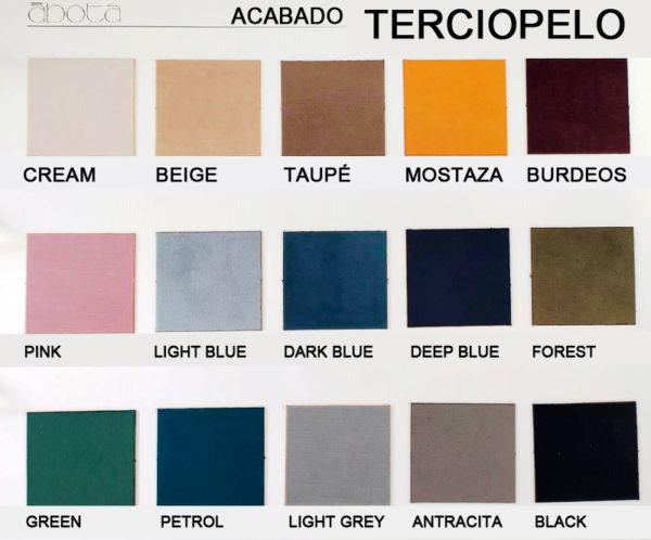 cabeceros tapizados abota acabado Terciopelo muebles Trimobel