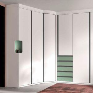 Armario puertas plegables angular modelo S72 Muebles Trimobel Getafe