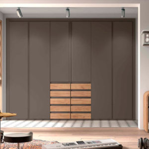 Armario puertas plegables angular modelo S73 Muebles Trimobel Getafe