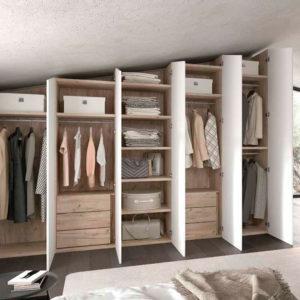 Vestidor para buhardilla Montes Desing Mod S87 Muebles Trimobel Getafe