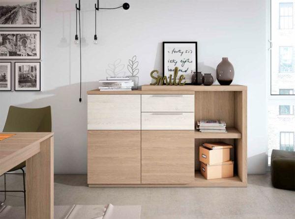 Aparador salón estilo moderno Cubica 01 Muebles Trimobel Getafe