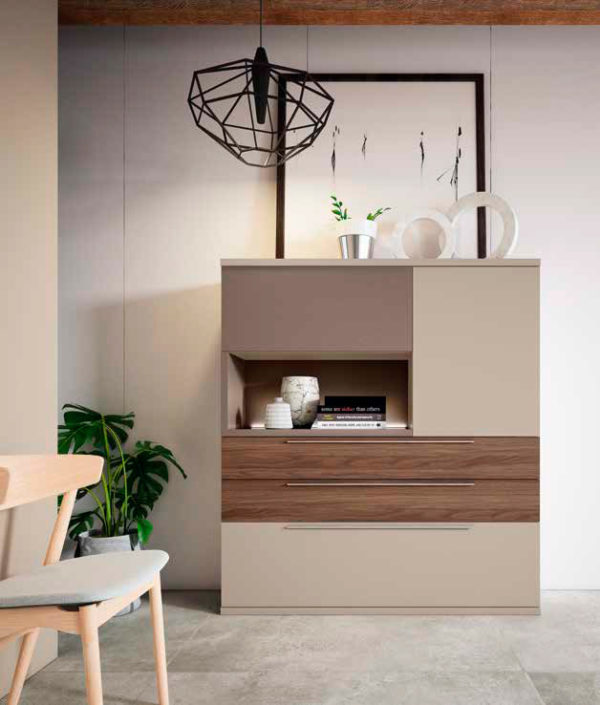 Aparador salón estilo moderno Cubica 02 Muebles Trimobel Getafe