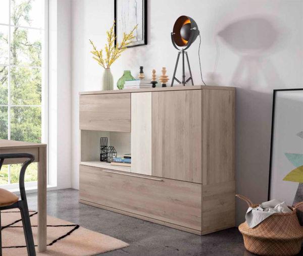 Aparador salón estilo moderno Cubica 04 Muebles Trimobel Getafe