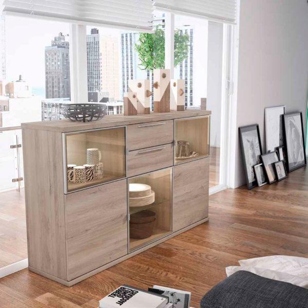 Aparador salón estilo moderno Cubica 06 Muebles Trimobel Getafe