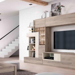 Salón Modular estilo moderno modelo Cubica 02 Muebles Trimobel Getafe Madrid