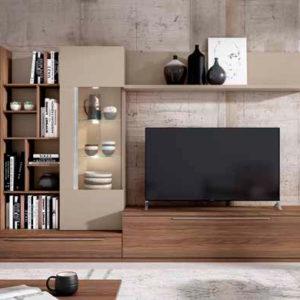 Salón Modular estilo moderno modelo Cubica 03 Muebles Trimobel Getafe Madrid