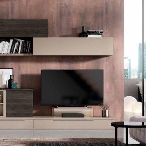 Salón modular moderno Cubica 014. Muebles Trimobel Getafe