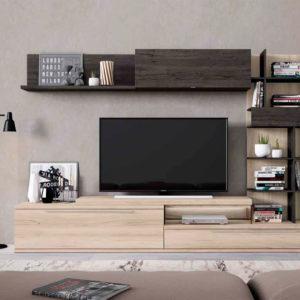 Salón modular moderno Cubica 018. Muebles Trimobel Getafe