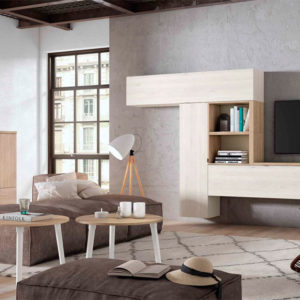 Salón modular moderno Cubica 029. Muebles Trimobel Getafe