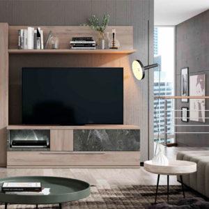 Salón modular moderno Cubica 038. Muebles Trimobel Getafe
