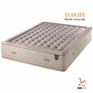 Colchón Muelle ensacado modelo Ecolife tejido de fibra natural Muebles TRimobel Getafe
