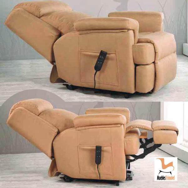 Sillón relax eléctrico modelo Zara. Opcional manual o motor eléctrico. Muebles Trimobel Getafe 1