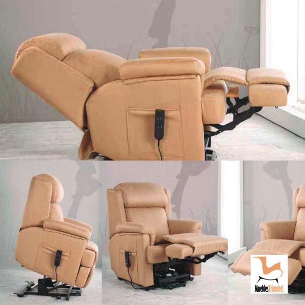 Sillón relax eléctrico modelo Zara. Opcional manual o motor eléctrico. Muebles Trimobel Getafe 2