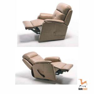 Sillón relax manual modelo Brunella. Opcional motor eléctrico y giratorio. Muebles Trimobel Getafe 2