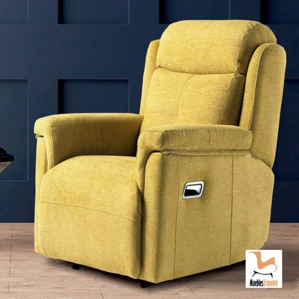 Sillón relax reclinable modelo Ergo. Opcional motor eléctrico y giratorio. Muebles Trimobel Getafe