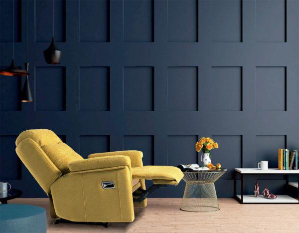 Sillón relax reclinable modelo Ergo. Opcional motor eléctrico y giratorio. Muebles Trimobel Getafe 3