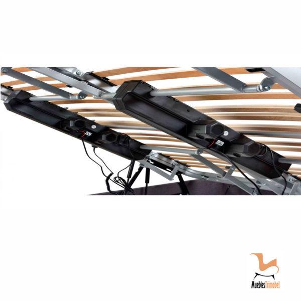Canapé somier articulado con motor eléctrico Detalle motores Muebles Trimobel Getafe