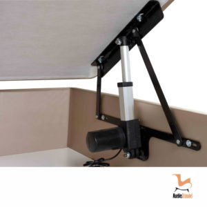 DEtalle mecanismo Canapé con tapa con motor eléctrico Muebles Trimobel Getafe