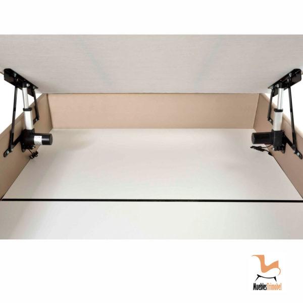 DEtalle interior Canapé con tapa con motor eléctrico Muebles Trimobel Getafe