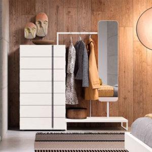 Dormitorio matrimonio moderno COSMO EOS Composición 10 detalle armario Muebles Trimobel Getafe 1